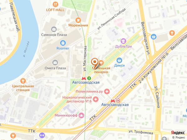 Остановка Метро Автозаводская в Москве