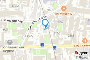 Снять однокомнатную квартиру в Москве м. Красные ворота, Новая Басманная улица, 17