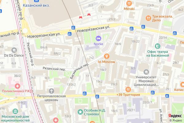 Ремонт телевизоров Басманный переулок на яндекс карте