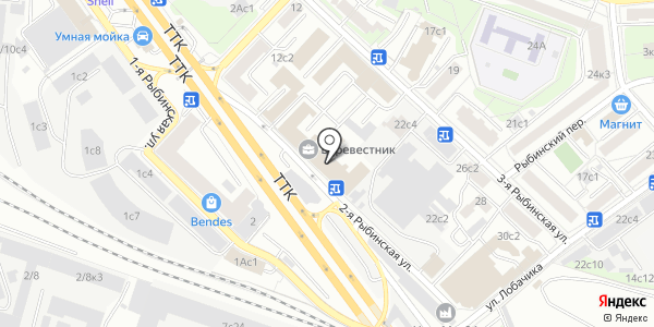 ВЕКТОР. Схема проезда в Москве