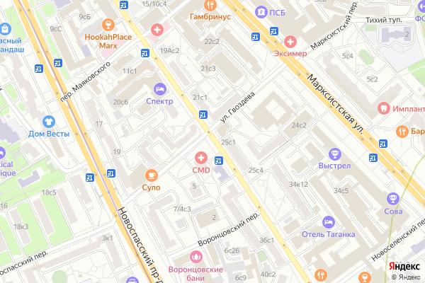 Ремонт телевизоров Улица Воронцовская на яндекс карте