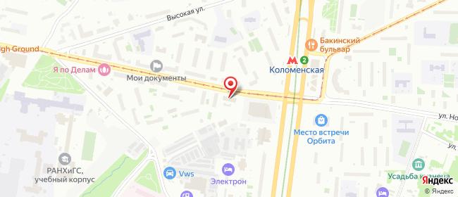 Карта расположения пункта доставки Москва Нагатинская в городе Москва