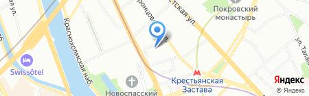 Авадос на карте Москвы