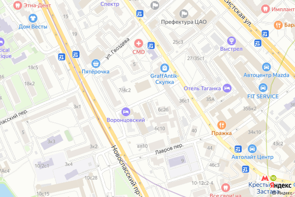 Ремонт телевизоров Воронцовский переулок на яндекс карте