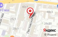 Схема проезда до компании Ютекс в Москве