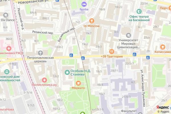 Ремонт телевизоров Улица Новая Басманная на яндекс карте