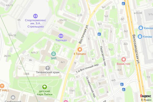 Ремонт телевизоров Улица Восточная на яндекс карте