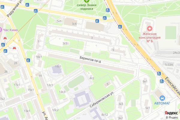 Ремонт телевизоров Берингов проезд на яндекс карте