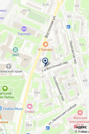 КАФЕ МЭРИ на карте Москвы