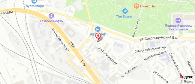 Карта расположения пункта доставки Телепорт в городе Москва