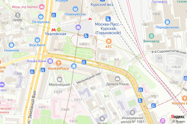Ремонт телевизоров Улица Верхняя Сыромятническая на яндекс карте