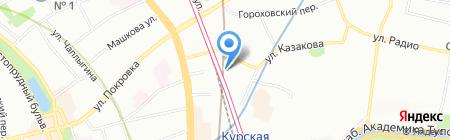 Павловопосадские платки на карте Москвы