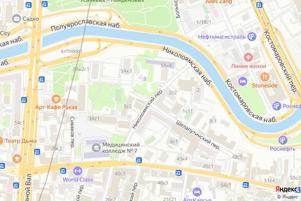 Ремонт телевизоров Николоямский переулок на яндекс карте
