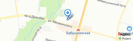 Пирит на карте Москвы