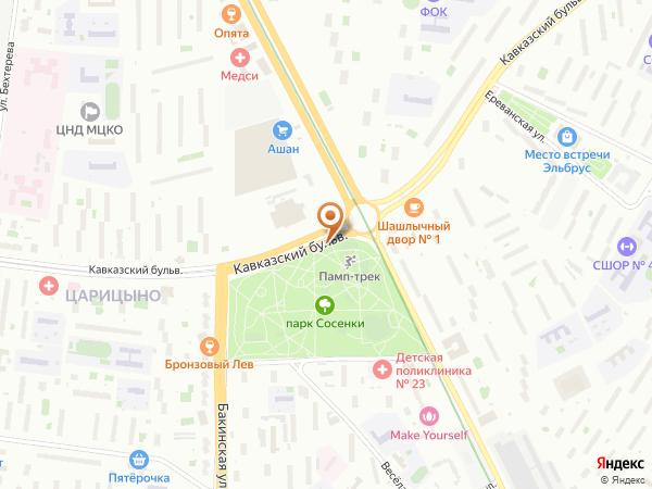 Остановка Кавказский бульв. в Москве