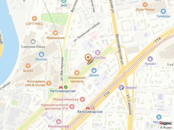 Остановка Автозаводская ул. в Москве