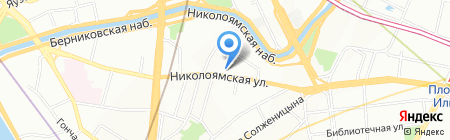 Гувернантка в Москве на карте Москвы