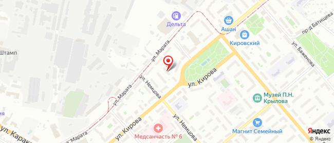 Карта расположения пункта доставки Тула Кирова в городе Тула