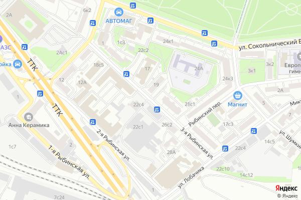 Ремонт телевизоров Улица 3 я Рыбинская на яндекс карте