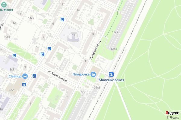 Ремонт телевизоров Рижский проезд на яндекс карте