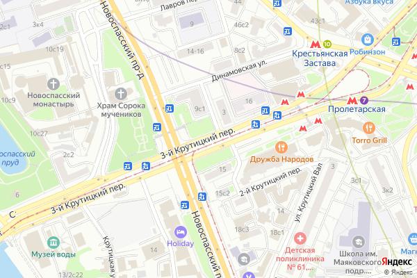 Ремонт телевизоров 3 й Крутицкий переулок на яндекс карте