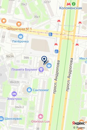МАГАЗИН БЫТОВОЙ ТЕХНИКИ И ЭЛЕКТРОНИКИ ТЕХНОСИЛА на карте Москвы