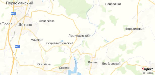 Ломинцевский на карте