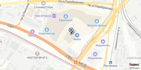 ГИПЕРМАРКЕТ METRO на карте Москве