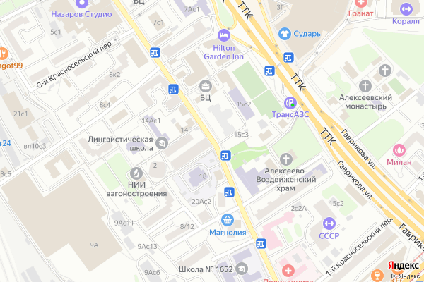 Ремонт телевизоров Улица Верхняя Красносельская на яндекс карте