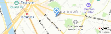 Таганский на карте Москвы