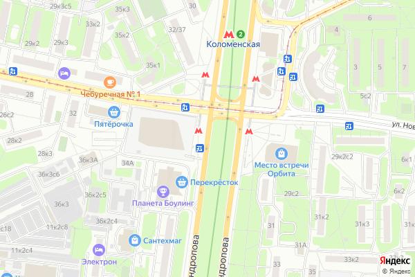 Ремонт телевизоров Андропова проспект на яндекс карте