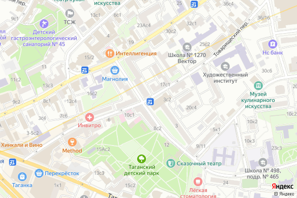 Ремонт телевизоров Товарищеский переулок на яндекс карте