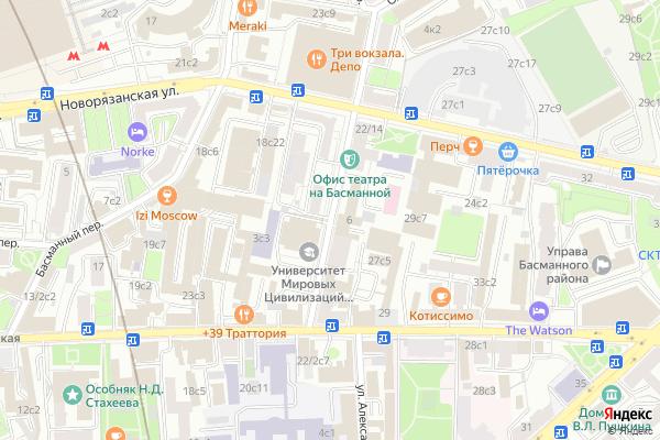 Ремонт телевизоров 1 й Басманный переулок на яндекс карте