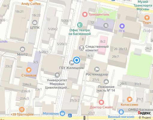 Управляющая компания «Жилищник Басманного района» на карте Москвы