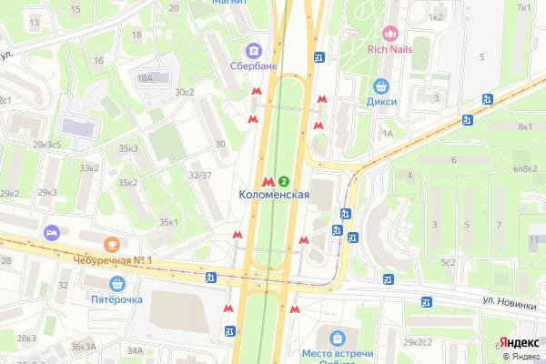 Ремонт телевизоров Метро Коломенская на яндекс карте
