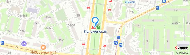 метро Коломенская