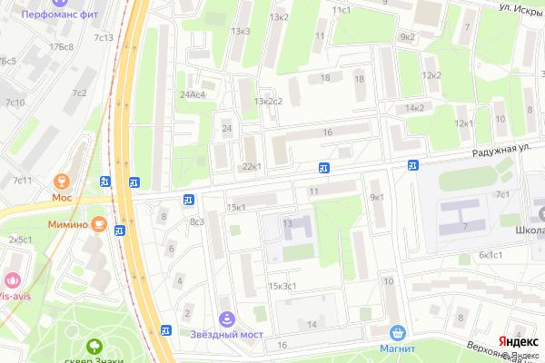 Ремонт телевизоров Улица Радужная на яндекс карте