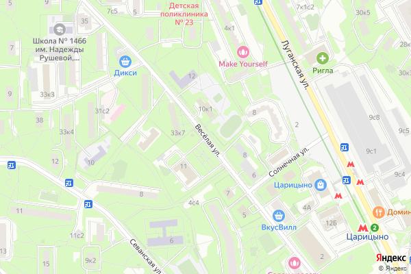 Ремонт телевизоров Улица Веселая на яндекс карте