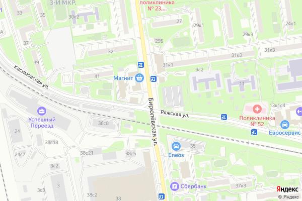 Ремонт телевизоров Улица Бирюлевская на яндекс карте