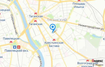Местоположение на карте пункта техосмотра по адресу г Москва, ул Марксистская, д 34 к 5