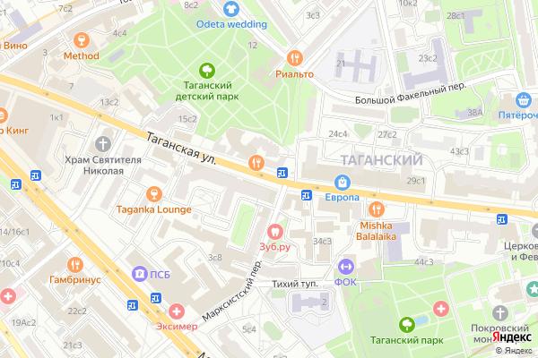 Ремонт телевизоров Улица Таганская на яндекс карте