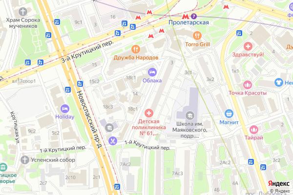 Ремонт телевизоров Улица Крутицкий Вал на яндекс карте