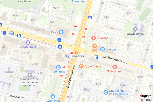 Ремонт телевизоров Метро Бабушкинская на яндекс карте