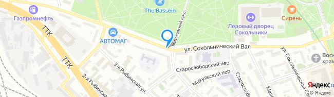 улица Сокольнический Вал