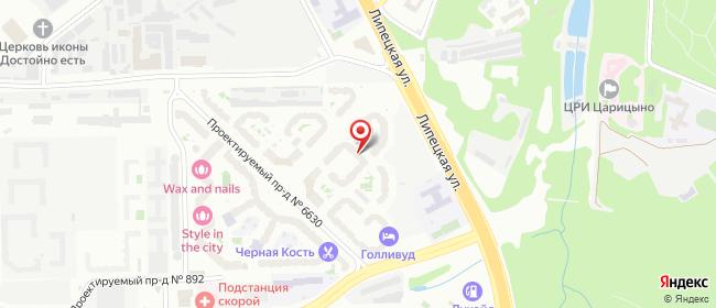 Карта расположения пункта доставки Москва 6-я Радиальная в городе Москва