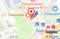 Схема проезда до компании Медиасервис в Москве