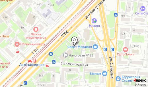 СРС Потолки. Схема проезда в Москве