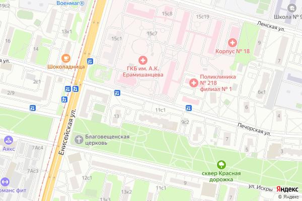 Ремонт телевизоров Улица Печорская на яндекс карте