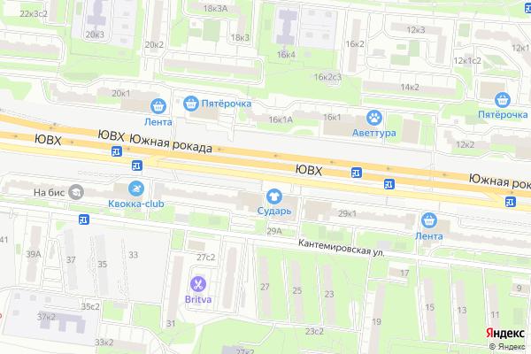 Ремонт телевизоров Улица Кантемировская на яндекс карте