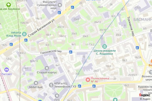 Ремонт телевизоров Гороховский переулок на яндекс карте
